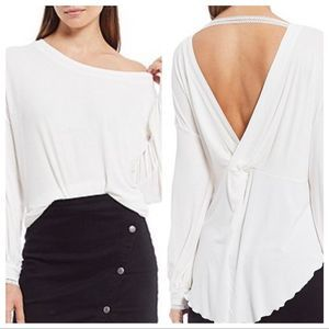 Free People Shimmy Shake Top Ivory Size Small